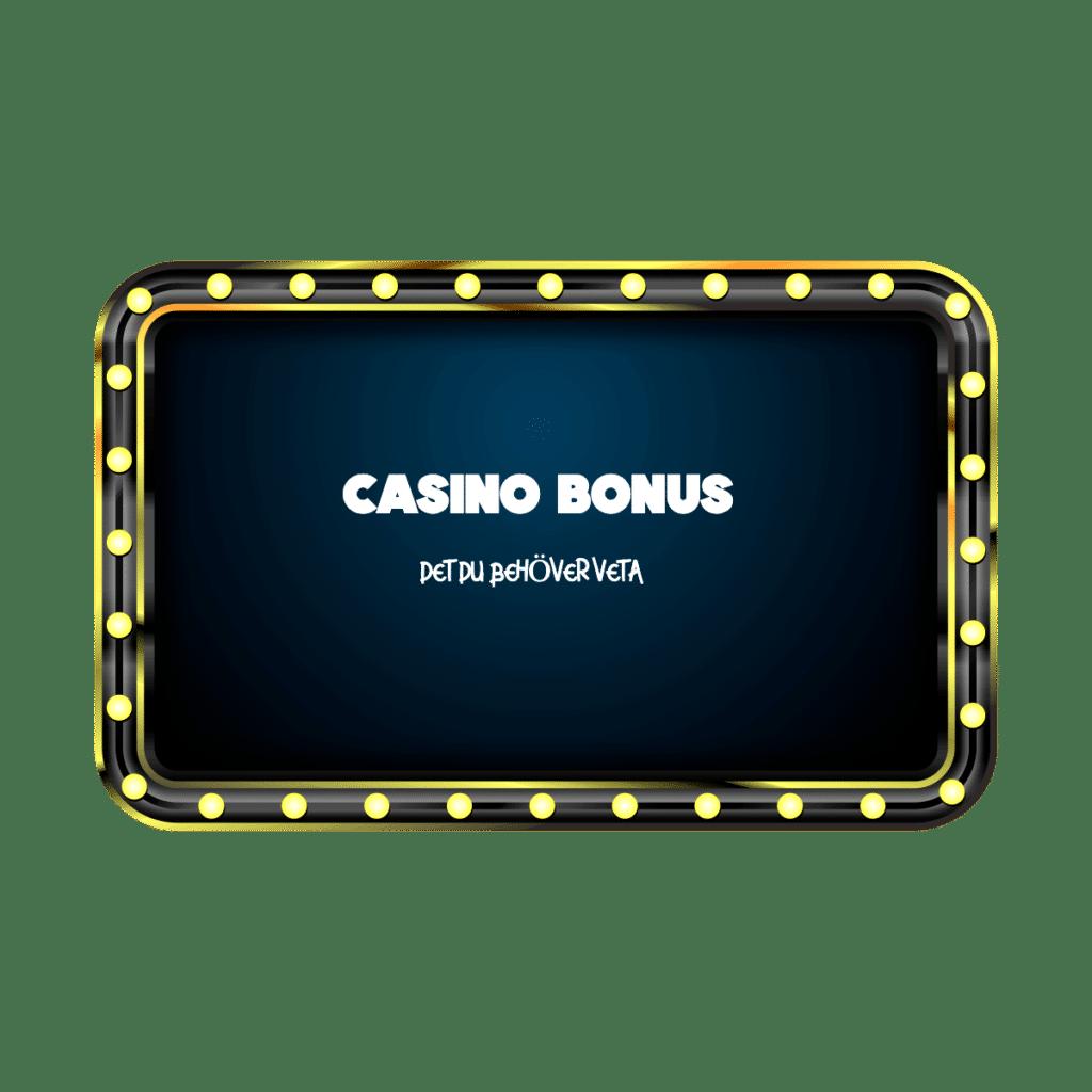 Casino bonus – saker att tänka på